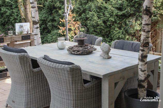 Anleitung für einen Gartentisch aus Bauholz