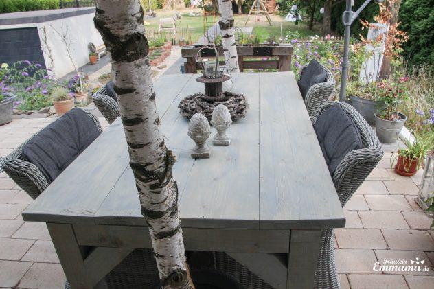DIY Gartentisch aus Bauholz