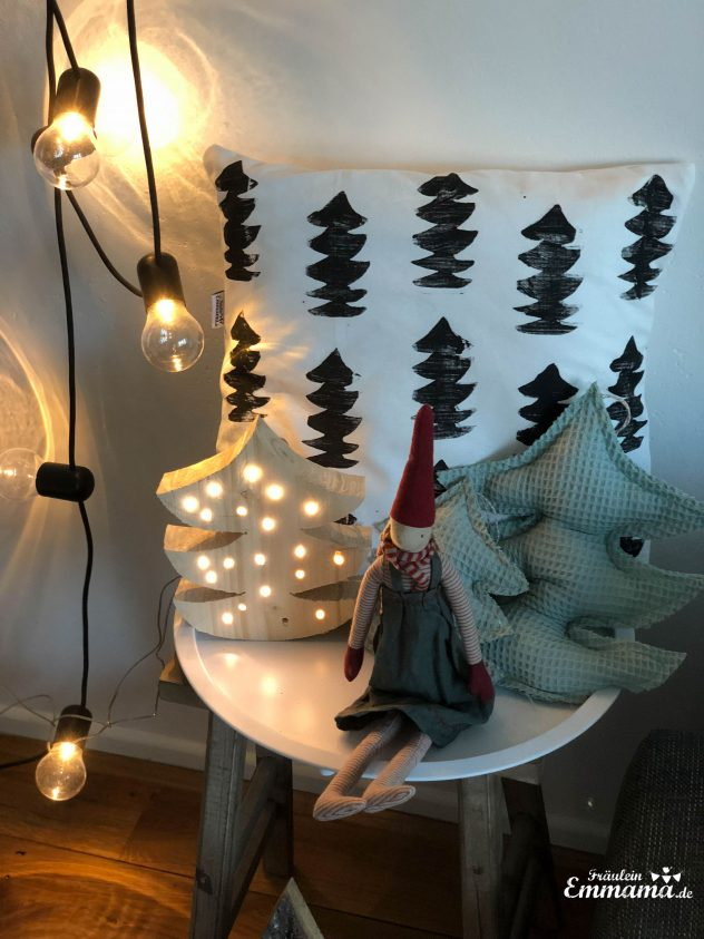 Diy leuchtende weihnachtsdeko aus holz fr ulein emmama - Leuchtende weihnachtsdeko ...